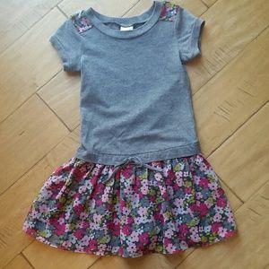 Girls Floral Drop Waist Dress